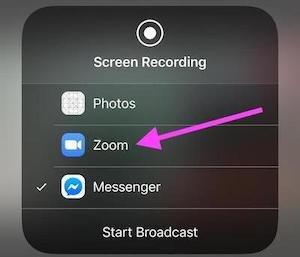 iPhone screenshot for broadcasting karaoke on Zoom (2)