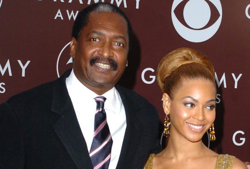 Beyonce with her dad Matthew Knowles