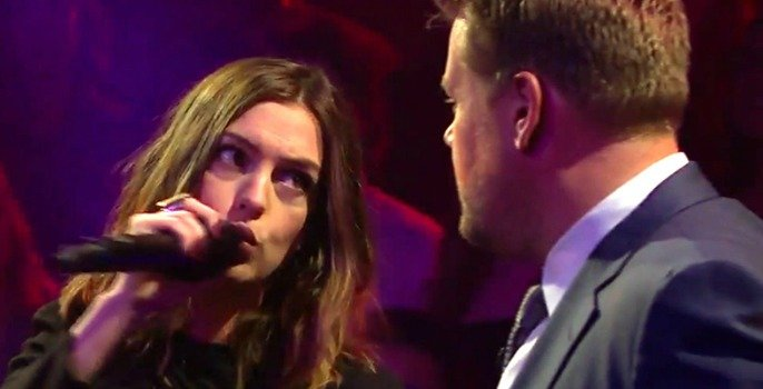Celebrity 'Drop the Mic' rap battle with James Corden