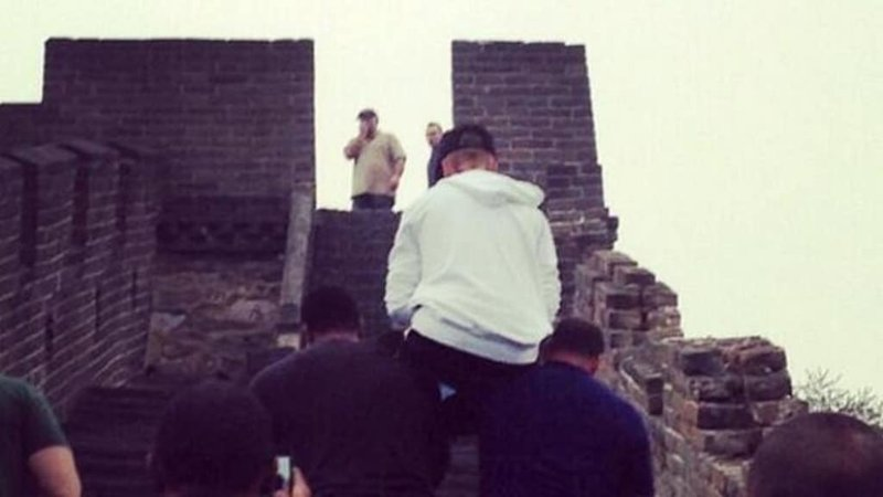 Great Wall Of China Justin Bieber Carried
