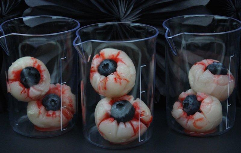 Halloween Lychee Eyeballs