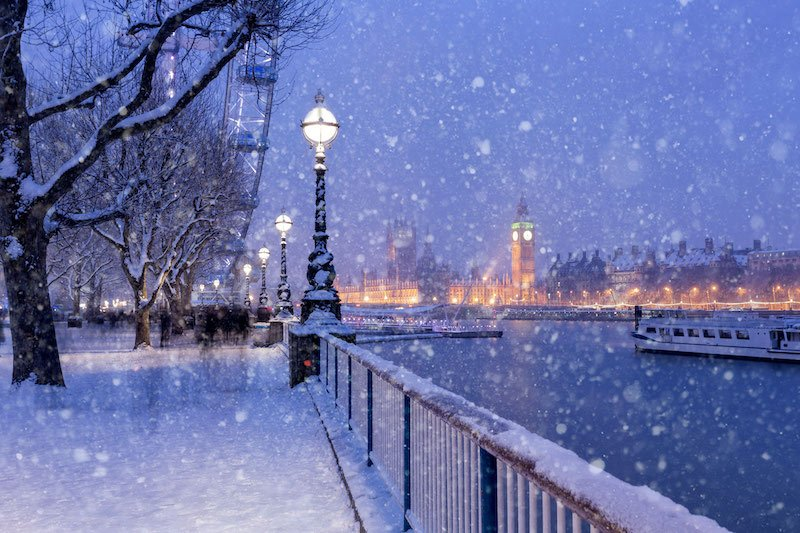 Snowing In London