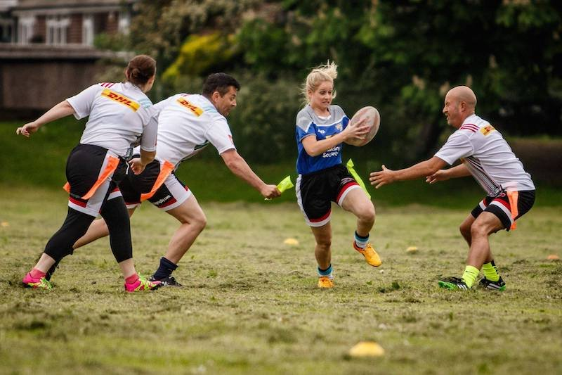 Try Tag Rugby unusual ways of keeping fit